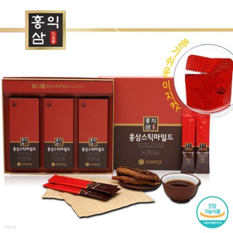 [홍익삼] 건강기능식품 홍삼스틱마일드 10ml x 30포 (쇼핑백포함)