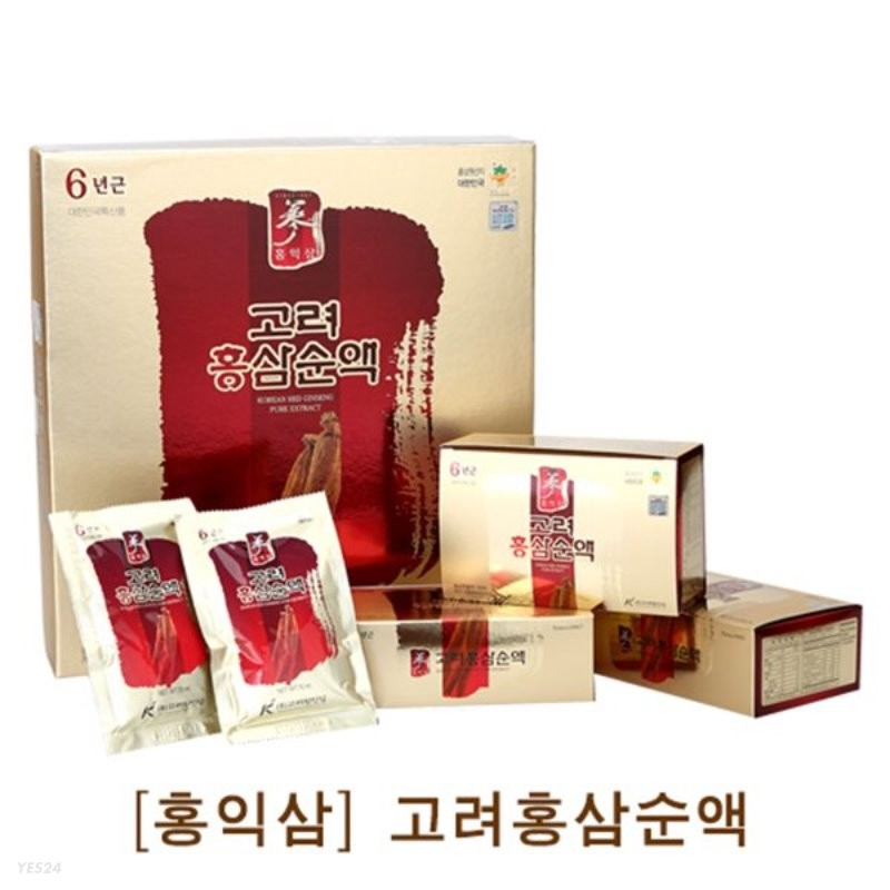 [홍익삼] 고려홍삼순액 70ml X 30포 (쇼핑백포함)