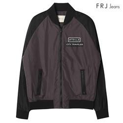 [FRJ]남성 와펜 포인트 라글란 소매 배색 점퍼 (F63M-MM068B)