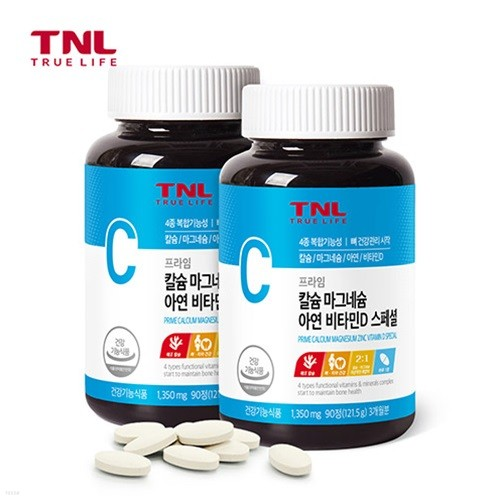 트루앤라이프 4종 뼈건강 칼슘.마그네슘.아연.비타민D x 2개
