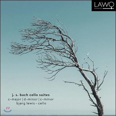 Bjorg Lewis 바흐: 무반주 첼로 모음곡 3번, 2번, 5번 (Bach: Cello Suites in C Major, D minor, C minor)