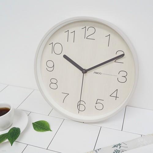 [시우아트] 토리우드무소음벽시계(3COLOR)
