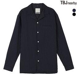 [TBJ]남성 쿠반카라 스트라이프 셔츠(T183SH200P)