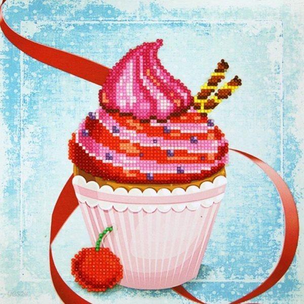 젬콕페인팅 보석십자수 컵케이크