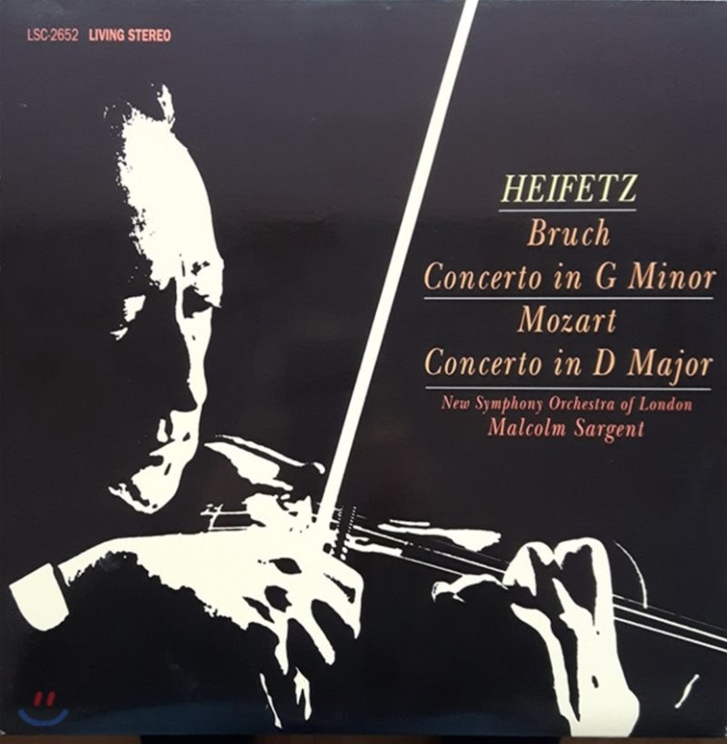Jascha Heifetz 브루흐 / 모차르트: 바이올린 협주곡 (Bruch: Violin Concerto Op.26 / Mozart: K.218) [LP]