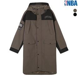 [NBA]CHI BULLS 칼라 블럭 야상점퍼(N183JP181P)