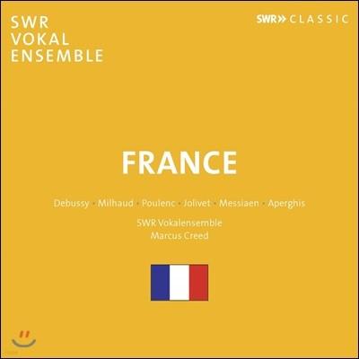 Marcus Creed 프랑스 합창음악 모음집 - 드뷔시 / 미요 / 풀랑크 / 졸리베 / 메시앙 / 아르페기스 ('France' - Debussy / Milhaud / Poulenc / Jolivet / Messiaen / Aperghis) 마르쿠스 크리트
