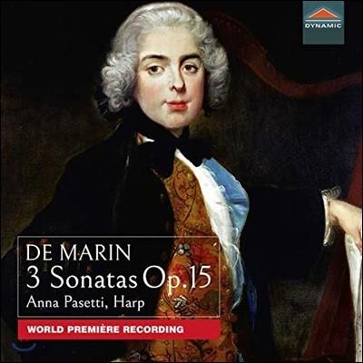 Anna Pasetti 드 마탱: 세 개의 하프 소나타 Op. 15 (De Marin: 3 Sonatas Op.15) 안나 파세티