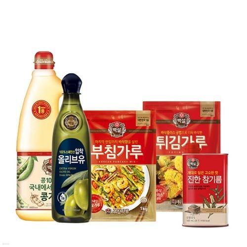 CJ 부침가루&튀김가루&요리유&참기름