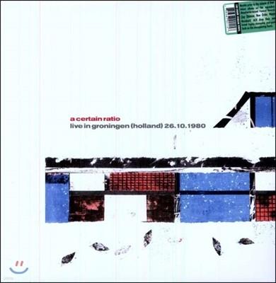 A Certain Ratio (어 서튼 레이시오) - Live In Groningen, Holland 26.10.1980 [LP]