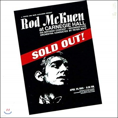 Rod McKuen (로드 맥퀸) - Sold Out at Carnegie Hall (Live) [Deluxe Edition 2CD]