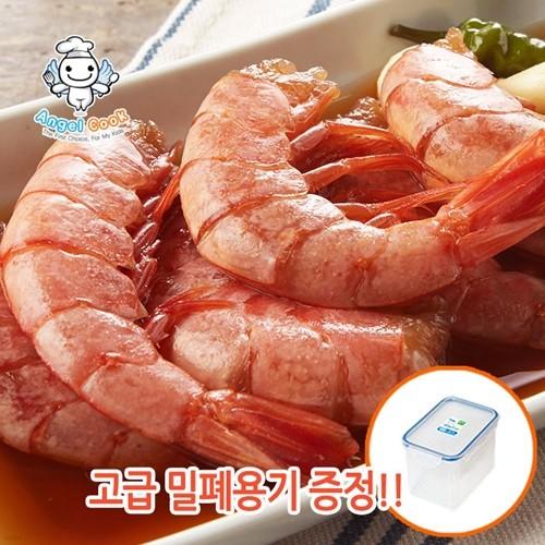 [엔젤쿡]랍스터맛 자연산 특대 프리미엄 붉은왕새우장 대하220g 세트 (맛간장포함)