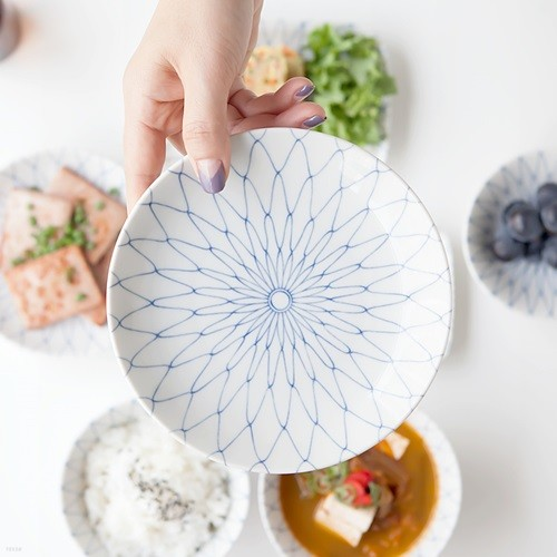 니코트 아미 원형접시 16cm JAPAN
