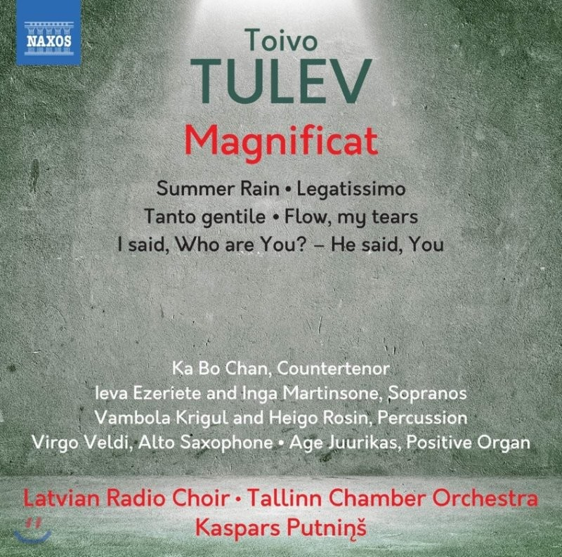 Kaspars Putnins 토이보 툴레브: 합창음악 & 관현악 작품집 (Tulev: Magnificat) 카스파스 푸트닌스