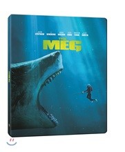 [Blu-ray] 메가로돈 (2Disc 2D+3D 스틸북 한정판 한정수량) : 블루레이