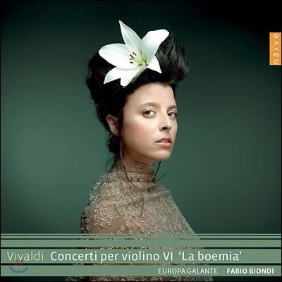 Fabio Biondi 비발디: 바이올린 협주곡 6집 '라 보헤미아' (Vivaldi: Violin Concertos `La Boemia`)