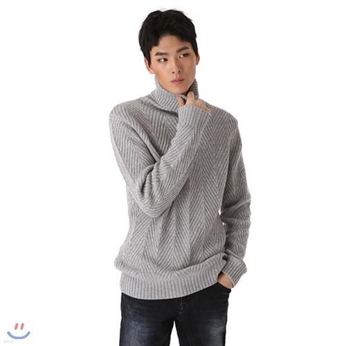 [BUCKAROO]남성 캐시혼방 지그재그 골지 터틀넥 (B184KT360P)