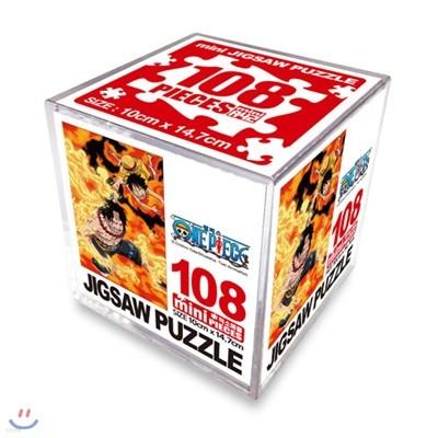 원피스 직소퍼즐 108 미니큐브 에이스&루피