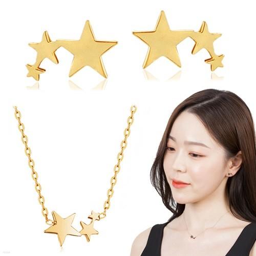 14K GOLD 트리플스타 2종세트