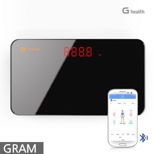 지헬스 지그램 블루투스 휴대용 체중계 QSWM-OA  (스마트폰연동)