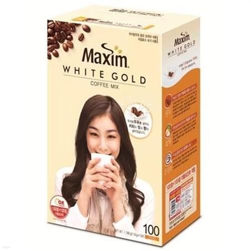 [0353318][맥심] 화이트골드 커피믹스 100T