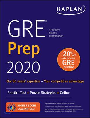 GRE Prep 2020 - Practice Tests + Proven Strategies + Online