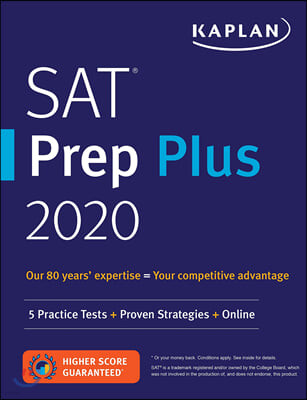 Kaplan SAT Prep Plus 2020