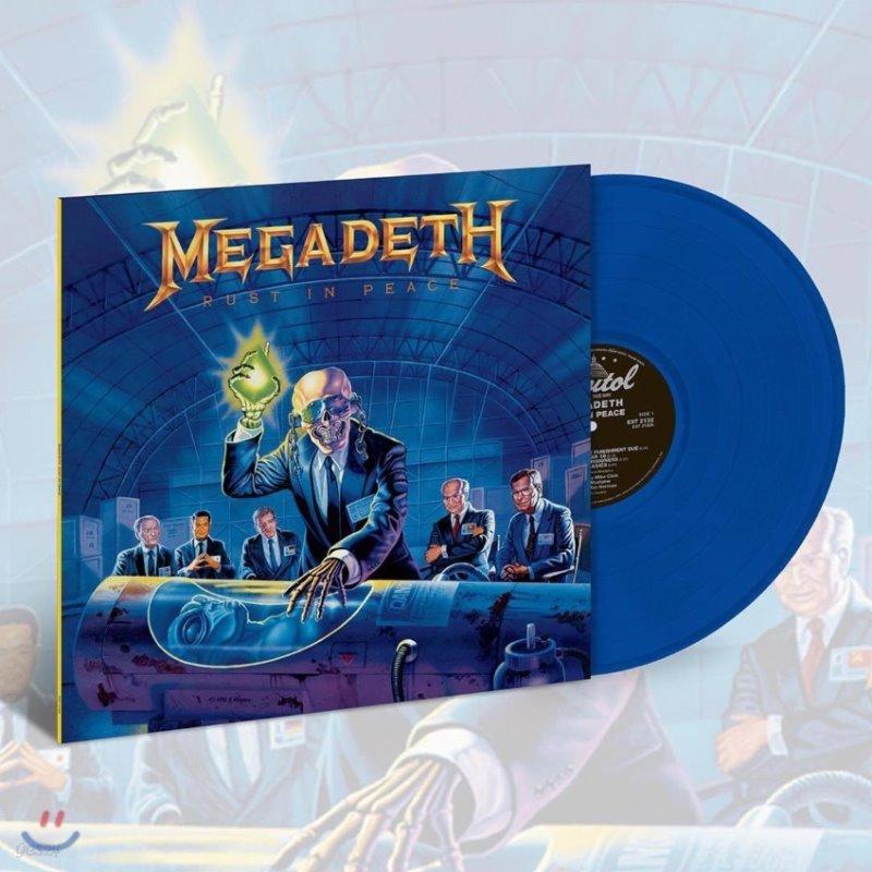 Megadeth (메가데스) - Rust In Peace [투명 블루 컬러 LP]