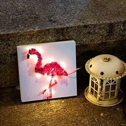 꼬마 LED 플라밍고 스트링아트 만들기 패키지 DIY (EVA)