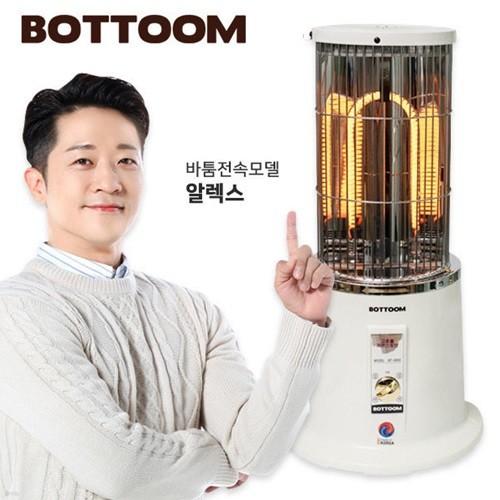 [바툼] 초강력 카본히터 서클 대형 (난로+온풍/2800W/전기난로/순간히터/복사열)