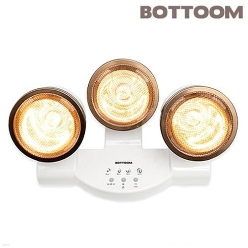 [바툼] 완전방수 욕실난방기 프리미엄 트리플 3구 (욕실히터/순간히터/램프안전커버/과열방지타이머/특수골드램프)