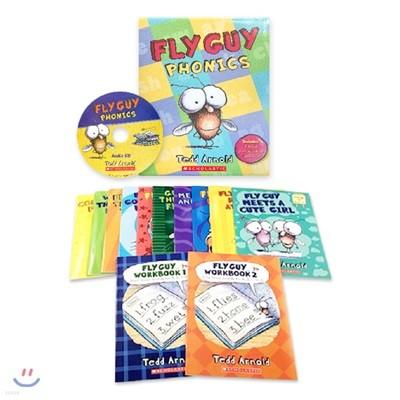 플라이 가이 파닉스 12종 박스 세트 (CD 1장 포함) : Fly Guy Phonics Boxed Set (12 Books + 1 Audio CD)