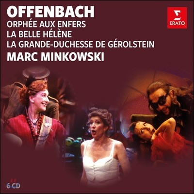 Marc Minkowski 오펜바흐: 지옥의 오르페우스, 아름다운 엘렌, 제롤스탱 대공비 (Offenbach: Orphee aux enfers, La Belle Helene, La Grande-duchesse de Gerolstein) [6CD Boxset]