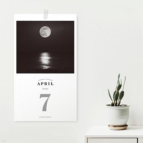 [365 days 일력] 2019 The Moon Daily Calendar
