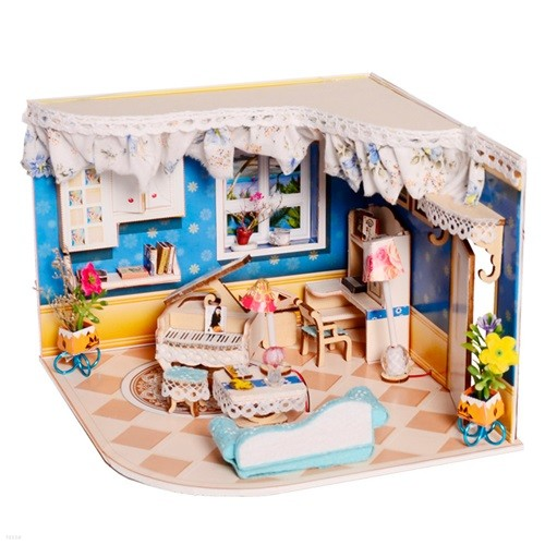 [adico] DIY 미니어처 우드 하우스 - 피아노방