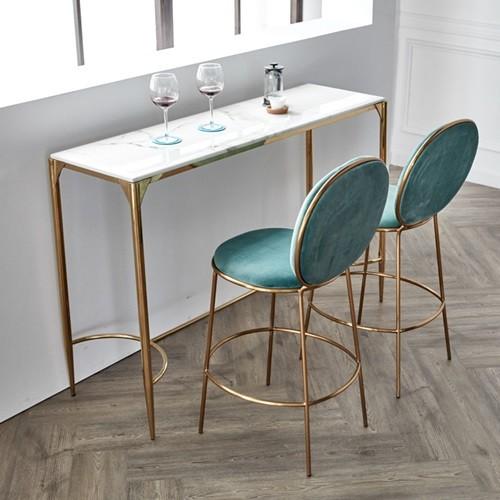 하이모던 원형 대리석 스텐 바 테이블 1800