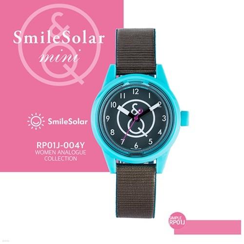 QQ시계 본사정품 SMILE QQ RP01J-004Y 남녀공용 태양전지 아날로그 시계
