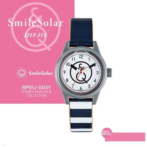 QQ시계 본사정품 SMILE QQ RP01J-003Y 남녀공용 태양전지 아날로그 시계