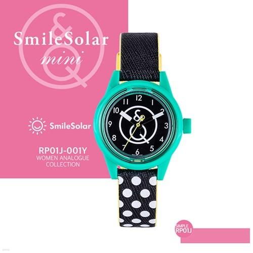QQ시계 본사정품 SMILE QQ RP01J-001Y 남녀공용 태양전지 아날로그 시계