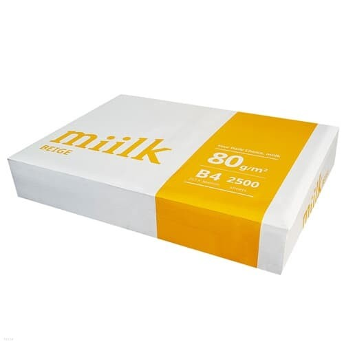 밀크 B4 복사용지(B4용지) 미색 500매(1권)