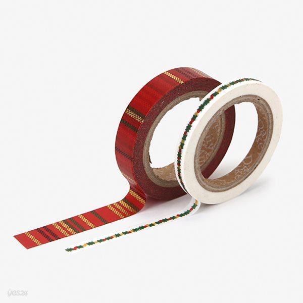 Masking tape christmas - 03 Garland