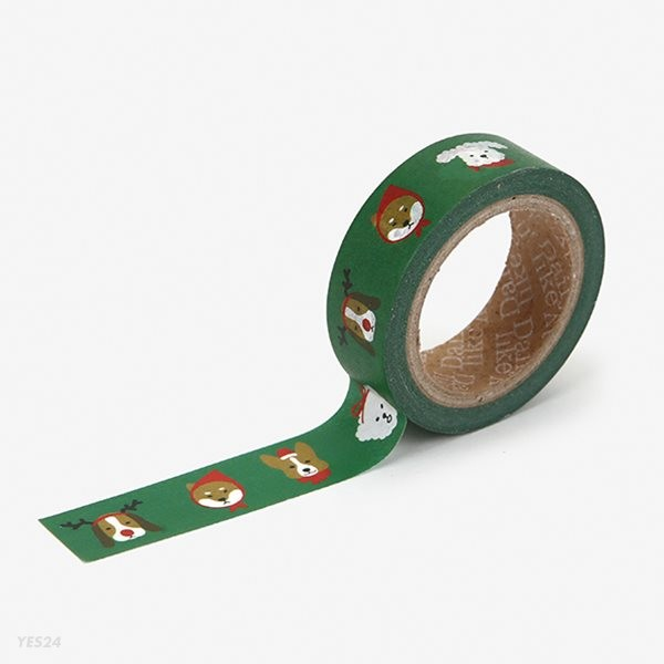 Masking tape christmas - 07 Merry puppy