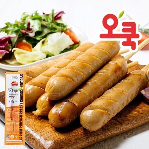 [오쿡]훈제 닭가슴살 핫바 10팩