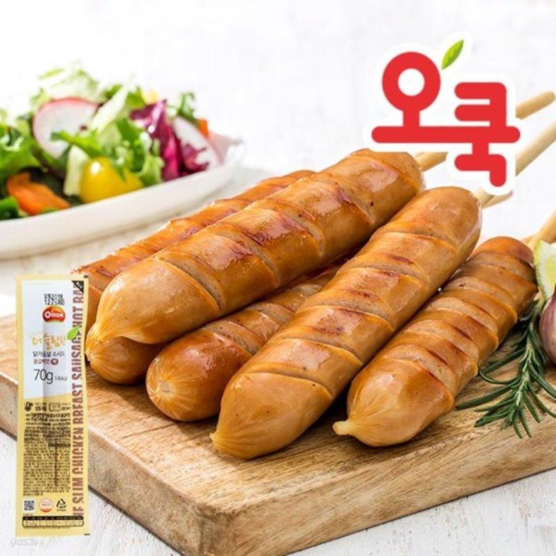 [오쿡]불갈비맛 닭가슴살 핫바 10팩