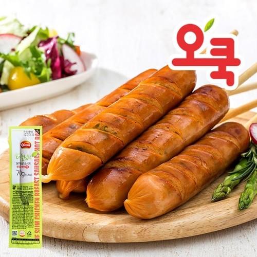 [오쿡]청양고추맛 닭가슴살 핫바 10팩
