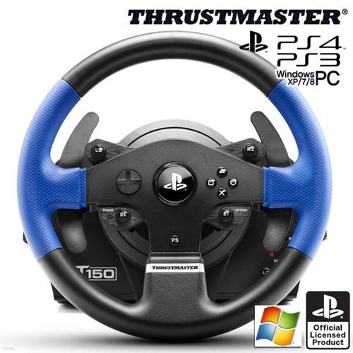 트러스트마스터 T150 포스피드백 레이싱휠(PS4,PS3,PC용)