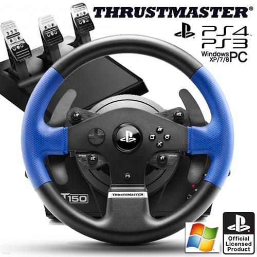 트러스트마스터 T150 PRO 포스피드백 레이싱휠 3패달 포함(PS4,PS3,PC용)