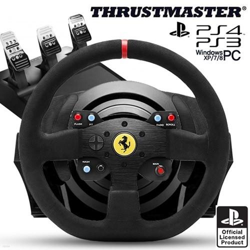 트러스트 마스터 T300 페라리 Integral 레이싱휠,3패달포함(PS4,PS3,PC지원)