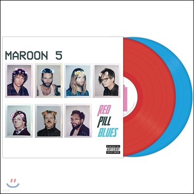 Maroon 5 - Red Pill Blues 마룬 파이브 6집 [레드 & 블루 컬러 Tour Edition 2LP]