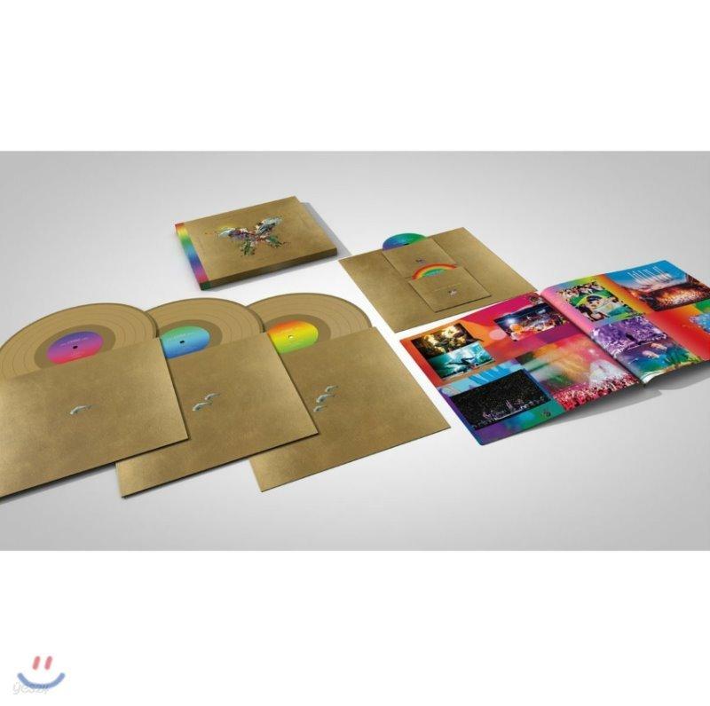 Coldplay - Live In Buenos Aires 콜드플레이 버터플라이 패키지 [골드 컬러 3LP+2DVD]